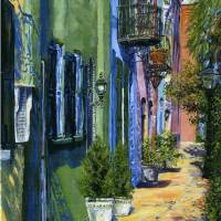 Rainbow Row North-Charleston SC Art Prints & Posters by Deborah Reeves