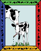 Cow Artist, Cow Art - Bright