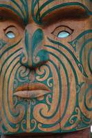 maori sculpture eyes and face