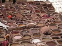 Morocco Tannery Vats Fez