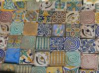 Painted ceramic tiles