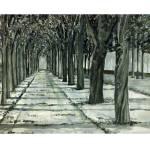 """Tuileries.mono.print"" by sbuschman"