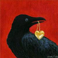 Crow with Locket