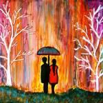 """Romance in the Rain"" by mkanvinde"
