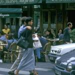 """Parisian Couple Walk to Left Bank Bistro"" by SailGuy"