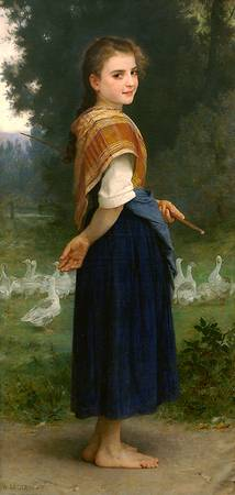 Bouguereau William The Goose Girl 1891