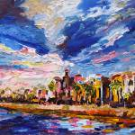 """Battery Charleston South Carolina Oil Painting"" by GinetteCallaway"