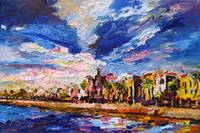 Battery Charleston South Carolina Oil Painting