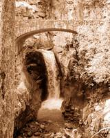 Waterfall Sepia