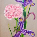 """Flowering Irises"" by clovia"