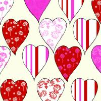 hearts Art Prints & Posters by Laura Hall