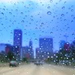 """downtown Baltimore: rainy windshield view 1"" by Zombie37"