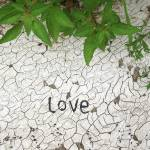 """love msg in sidewalkpaintcrackle"" by Zombie37"