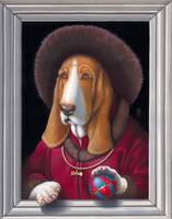 'Dog With Ball'- Basset Hound