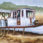 """ST.MARIES TUG-Watercolor"" by mbrush3969"