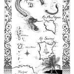 """Gulf of Thailand Pen & Ink Nautical Chart"" by savanna"