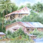 """KANEOHE OHANA-Watercolor"" by mbrush3969"