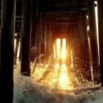 """Crashing Under the Pier"" by WVUARTIST"
