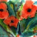 """Poppy Abstract"" by Mylene"
