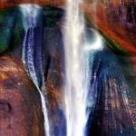 """Lower Calf Creek Falls: Natural Jewels"" by Mylene"