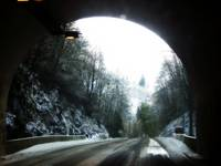 Snow Covered Tunnel