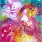 """""""Pierrot and Arlecchino /Venetian Masquerade"""" by BulganLumini"""