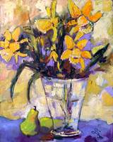 Daffodils Still life Oil Painting by Ginette Calla