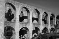 Mission San Jose Arches: Black and White