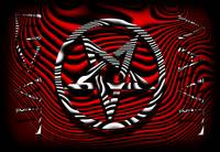 HAIL EVIL Pentagram Red