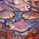 """Fish Mural"" by FiresignArt"
