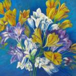 """Spring Freesias Posy"" by ArtbyMarionHedger"