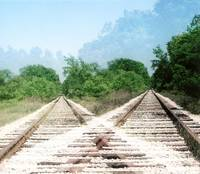 Double Railroad Tracks