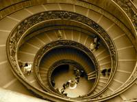 Staircase in the Vatican Museum