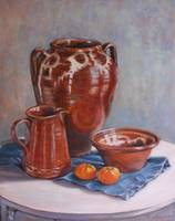 'Skyros Pots with mandarins'