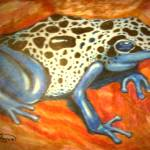 """blue dart frog"" by AmyQueen"