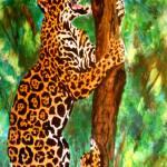 """""""Climbing Jaguar"""" by AmyQueen"""