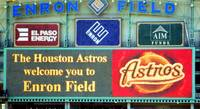 Enron Field signs and scoreboard