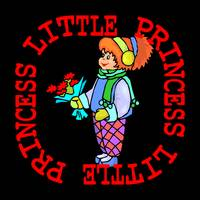 LITTLE PRINCESS ON BLACK FOR BLACK T SHIRTS