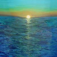 Sea at dusk Art Prints & Posters by Raquel de la Viña
