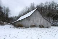 White Barn in Winter