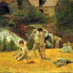 """Bathing One with the Mill of Bois dAmour"" by ArtLoversOnline"