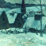 """Breton Village in Snow"" by ArtLoversOnline"