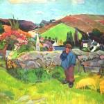 """""""Bretoni Landscape with Schweinehirt"""" by ArtLoversOnline"""