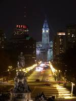 Down the Benjamin Franklin Parkway