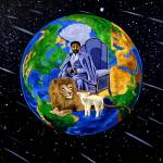 """lion and lamb large"" by khanstudio"