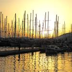 """Masts at Sunset at Bodrum, Turkey"" by leicafan"