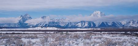 Snow Covered Mountain Panorama
