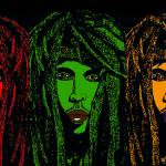 """Rastaman Vibration in Red Green and Gold"" by khanstudio"