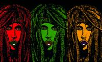 Rastaman Vibration in Red Green and Gold