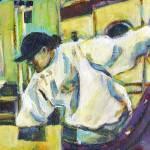 """Woman Folding"" by artistfaye"